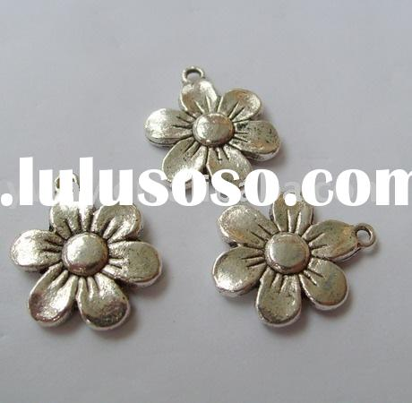 metal flower shape beads wrought iron flower metal items