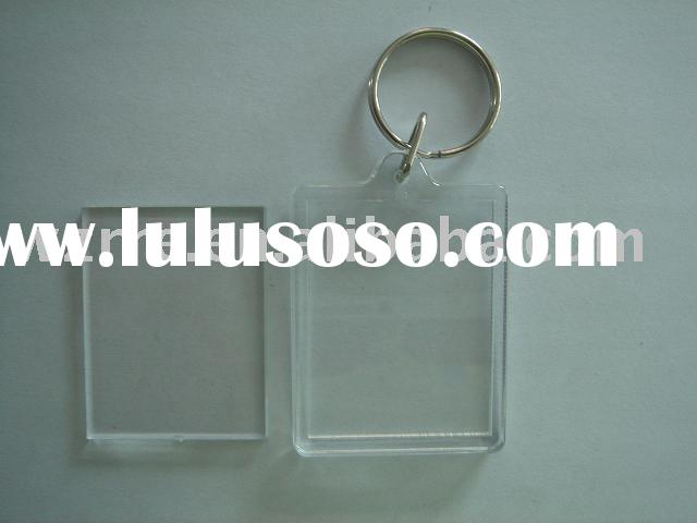 plastic photo keyring