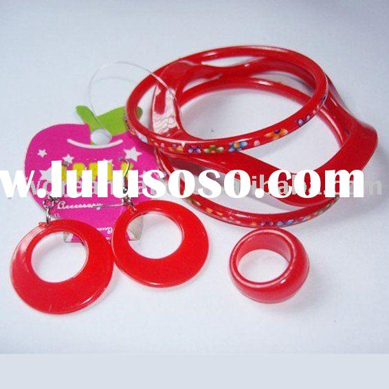 2010 Hot Sale Promotion plastic jewelry set
