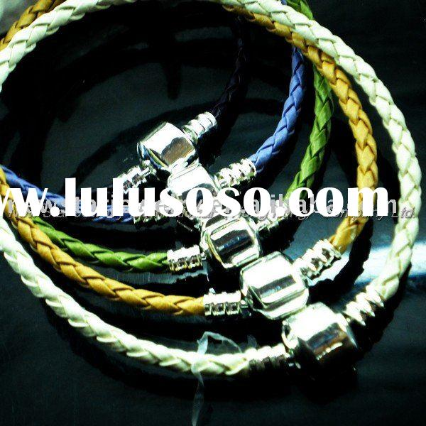 2011 New Design Fashion Leather Bracelet Fine Jewelry Chain Present Ideas L54