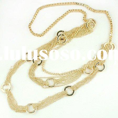 fashion chains, chain style brass necklace, costume jewelry