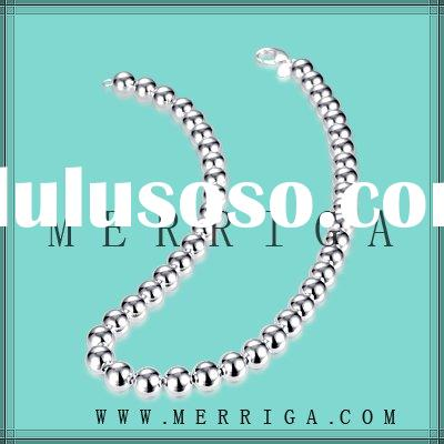 wholesale jewelry,silver bead chain necklace