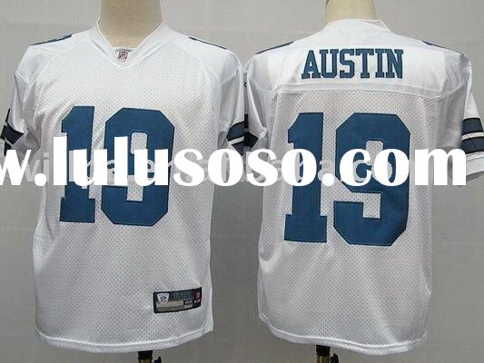 Dallas Cowboys White #19 AUSTIN Mesh 100% Polyester Football Jerseys