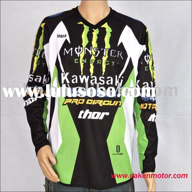MQNSTER  Racing T Shirt Fox Jersey  /Dirt Bike KAWASAKI  T Shirt Jersey