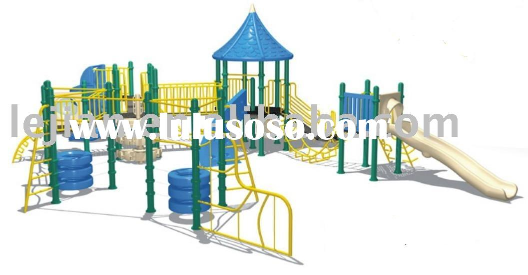 Transformer plastic kids playground equipment
