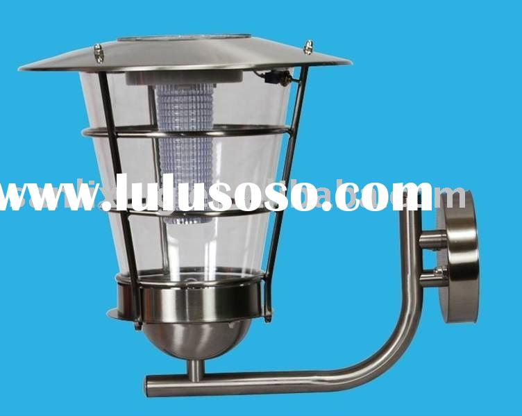stainless steel solar outdoor wall lamp
