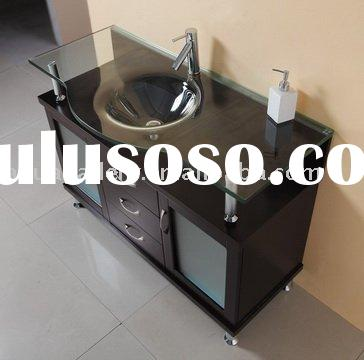 Bathroom Vanity With Tempered Glass Basin