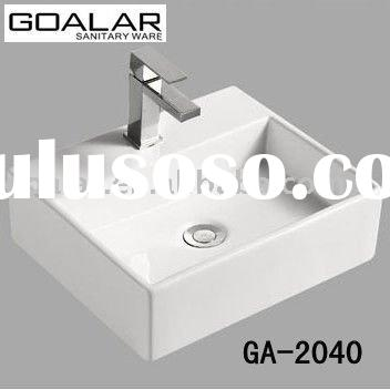 Ceramic square wash basin, art sink