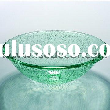 Clear Glass Bathroom Countertop Basin Sink