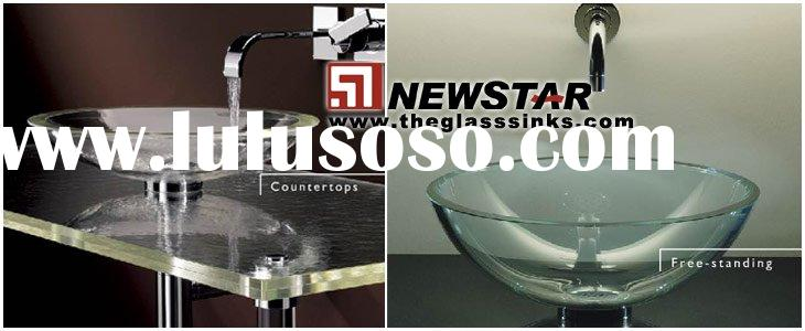 Free standing basin (glass bathroom sink)