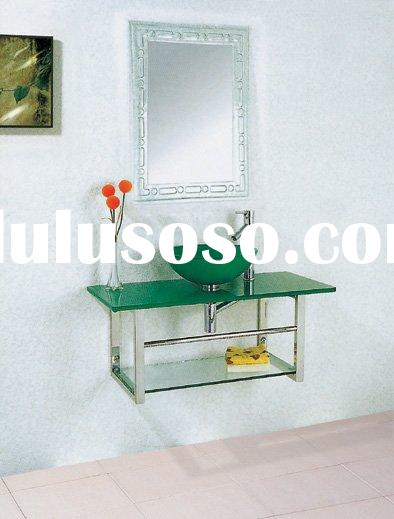 Glass Vanity Unit,Glass Basin with Stand,Wash Basin,Glass Sinks,Glass Pedestal Sink (HOT SELL NOW)