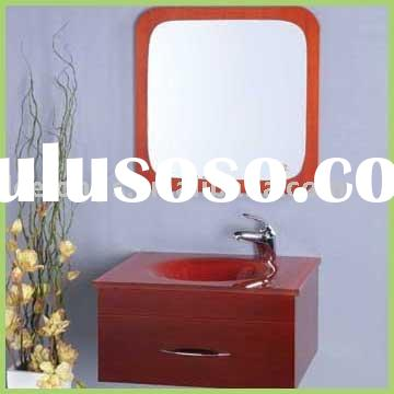 PVC Bathroom Vanity Unit with tempered glass basin