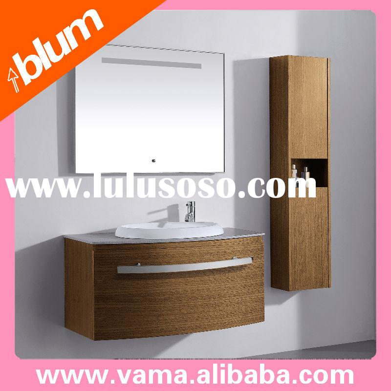 Walnut wood Bathroom Sink vanities / solid wooded cabinets V-17029