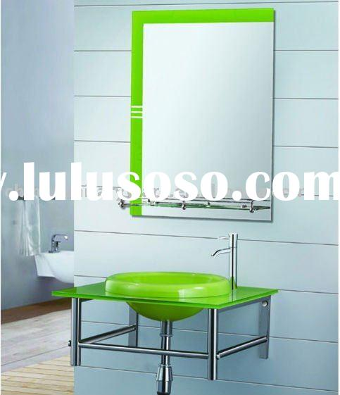 bathroom glass basin