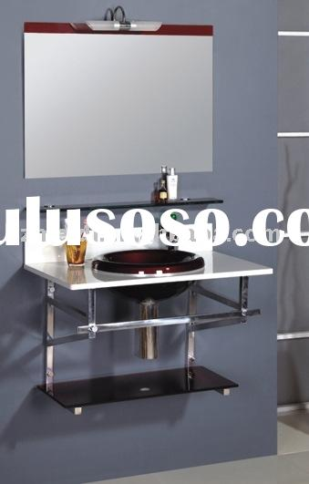 glass table basin, glass wash basin, wash basin, glass basin, basin, bathroom cabinet