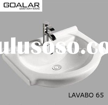 white ceramic basin