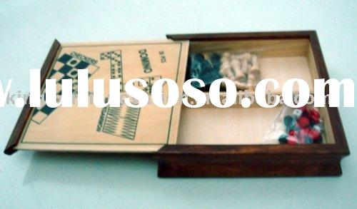 4 in 1 chess box set,chess,backgammon,domino,checker,wooden board game,wooden toy