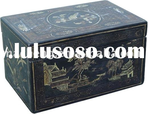 Antique Money box, dressing case,chinese curiox