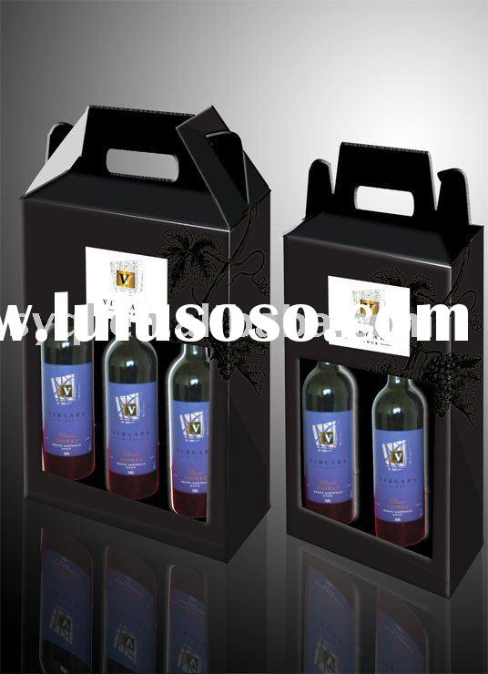 Cardboard wine box (For gift,chocolate,wedding,festival,etc.)