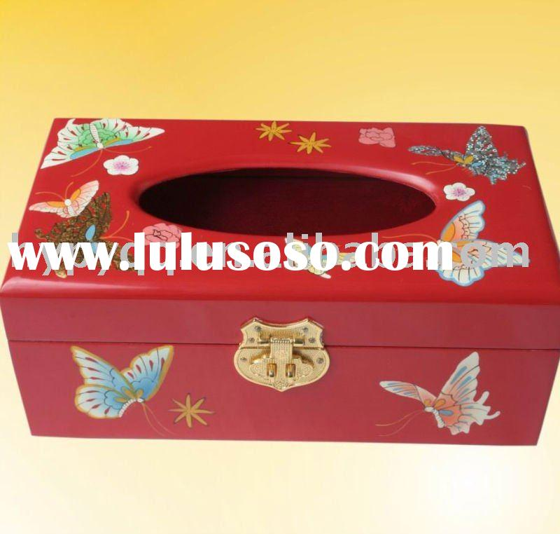 Christmas  Gift-Wooden Craft tissue paper Box
