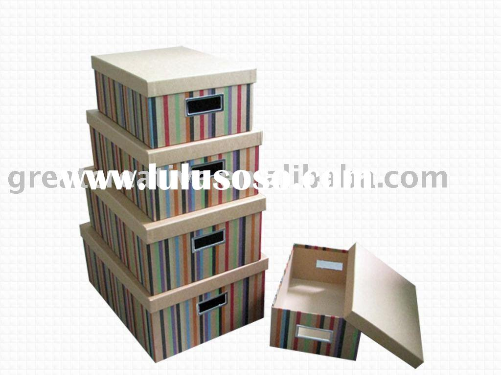Craft paper storage and packaging box