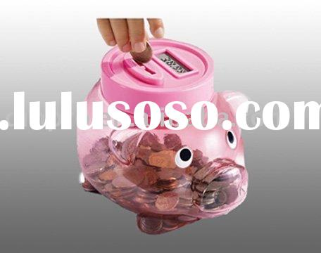 Digital money box with counting and LCD display Functions
