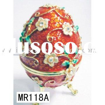 Faberge egg trinket box,easter egg jewelry box,music box,