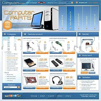 Good Computer Parts Car E-commerce Website Design