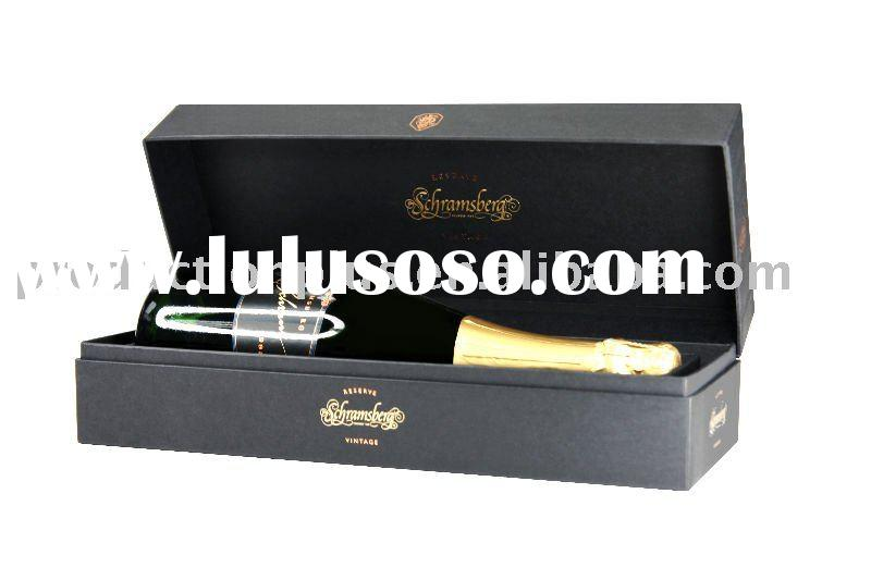Luxury champagne Wine paper bottle packaging gift Box