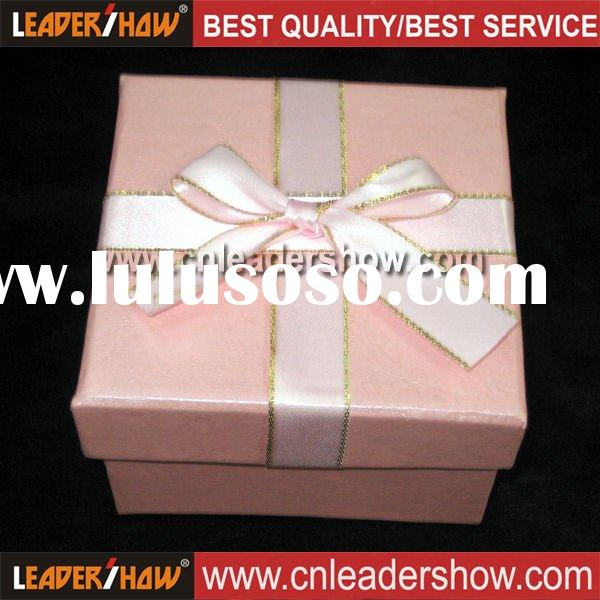 Pink art paper box gift box package