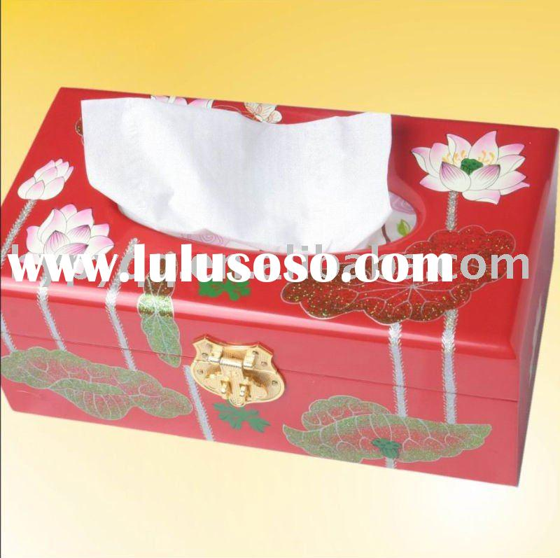 Precious Wooden Gift and Craft-Tissue Paper Box