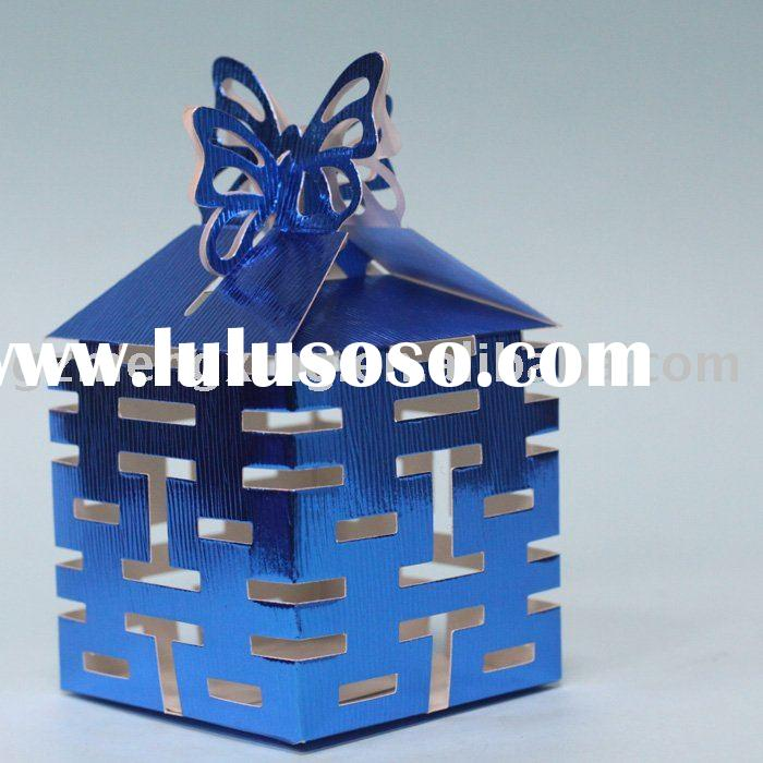 Royal Blue Candy and Gifts Boxes for wedding decorationWB018