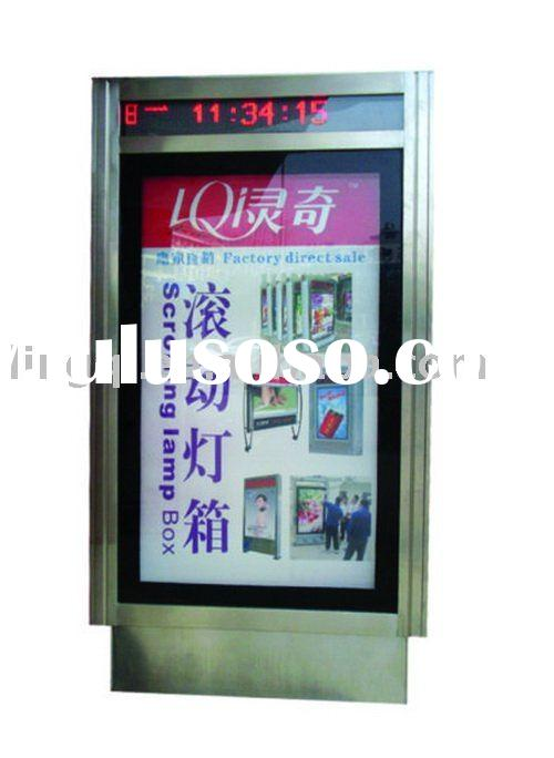 Scrolling light box - Stainless steel scrolling light box with LED display