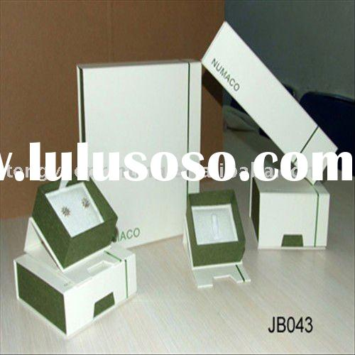 Small White Jewelry Boxes , Jewelry Gift boxes with logo printing