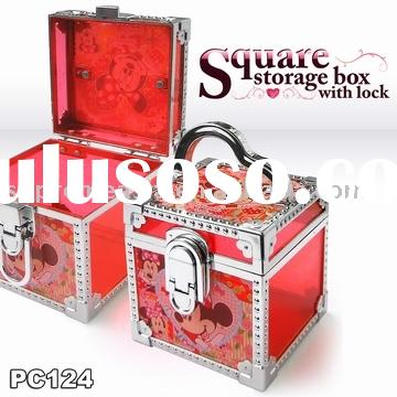 Square Storage Box with Lock
