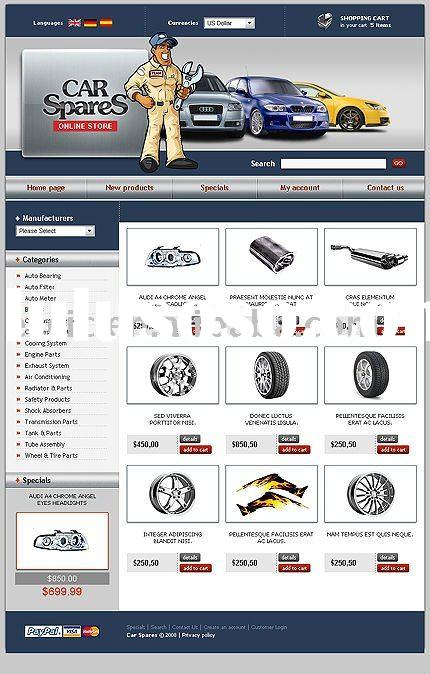 Web Design, Ecommerce Website Design, Car spares Ecommerce Website Design Service(Rent or Buyout)