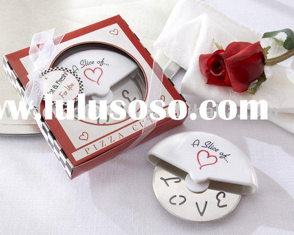 Wedding Souvenir Love Pizza Cutter Favors
