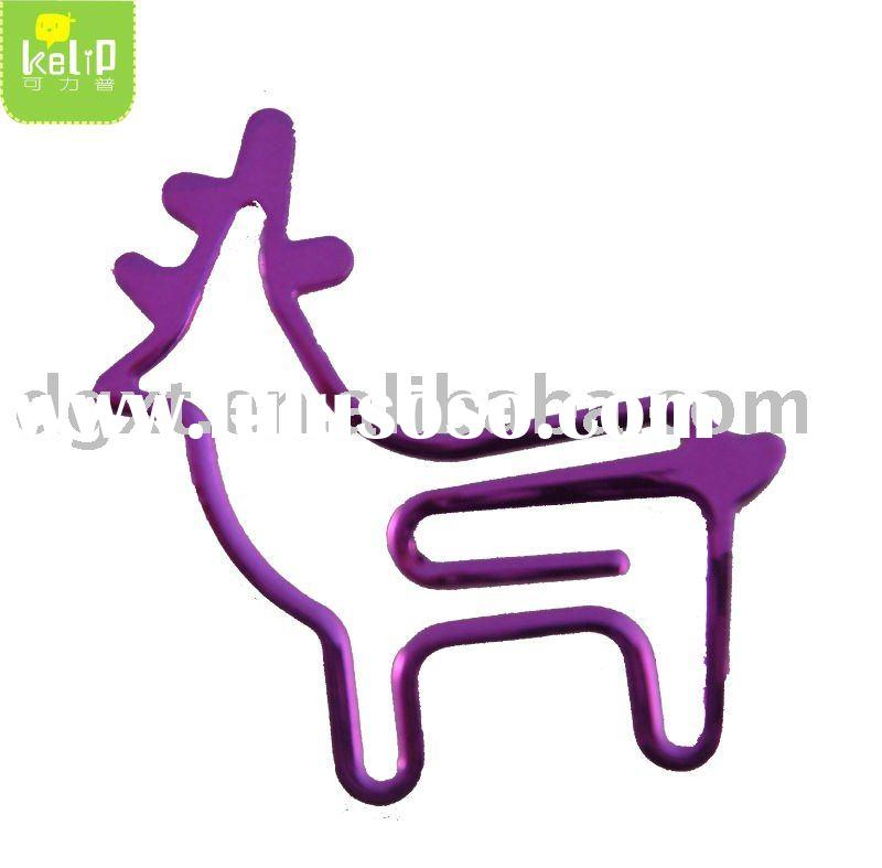 Wire art Shaped Paper Clip for promotional gift