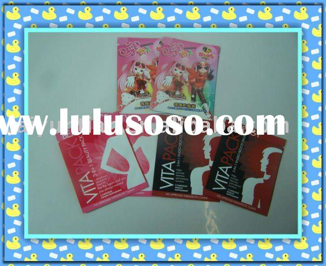 aluminum foil bag for hand&face cream, side seal aluminum foil bag,small plastic packaging bag