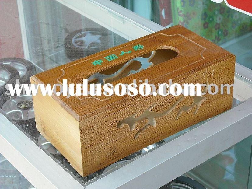 bamboo craft(bamboo tissue paper box,OEM)