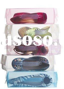 clear Plastic shoe box wholesale