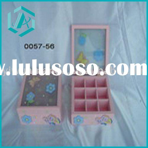 lovely girls' jewelry boxes set  in pink color/storage box