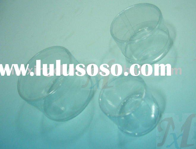 plastic clear small round box packaging