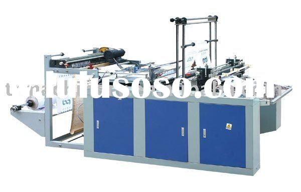 plastic super market bag making machine (Hot sealing cold cutting )