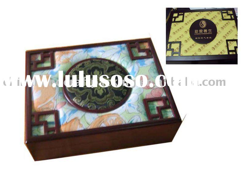 wooden decorative gift boxes with satin