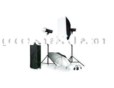 300/400 Watt Professional Strobe light kit(three lights) with softbox and umbrella