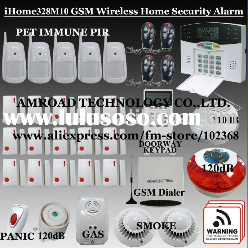 40 Zones LCD Display GSM Wireless Home Security System House Burglar Alarm iHome328M