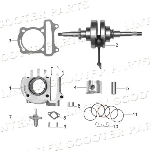 50cc Gas Scooter Engine Parts