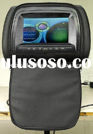 7 Inch  HEADREST DVD PLAYER WITH 32 NATIVE GAMES /USB/SD