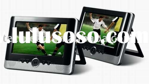 7inch dual screen LCD portable DVD player